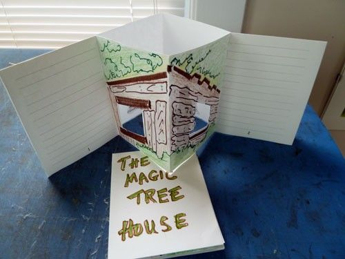 tree house books for the Magic Tree House series with a free template