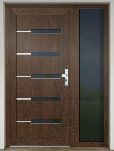 Vchodové dvere s HPL dvernou výplňou GAVA 953