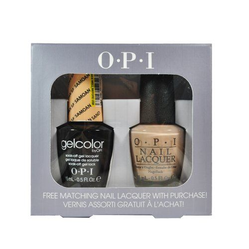Spe85 Samoan Sand P61 Opi Gelcolor Uv Gel Polish with Free Matching Nail Lacquer 0.5floz ** Continue to the product at the affiliate link Amazon.com.