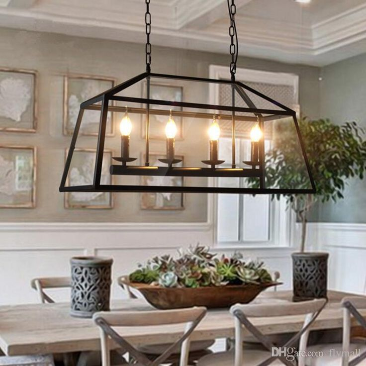 Luxurious light pendant, lighting pendants of different crystal design, find your favorite retro rustic wrought iron black chandelier light rectangle loft pendant lamp vintage industrial glass box pendant light dining room bar lamp from flymall and enjoy the new look of your house with bronze pendant light.