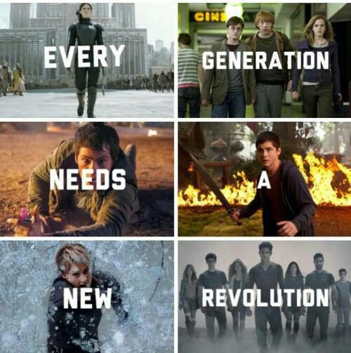 Hunger games >> Harry Potter >> The maze runner >> Percy  Jackson >>  Divengert >> Teen Wolf >> ohh... I love you Allegro <333