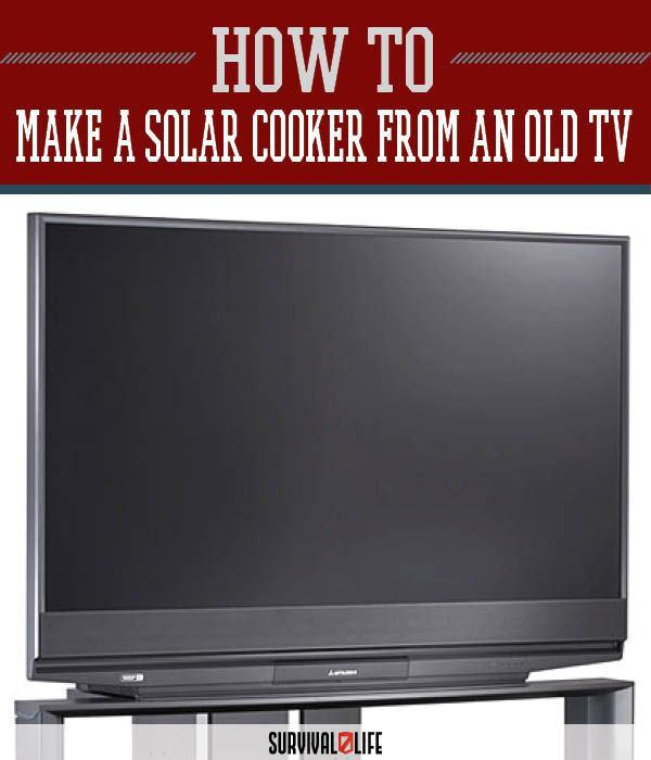 DIY solar cooker from an old TV