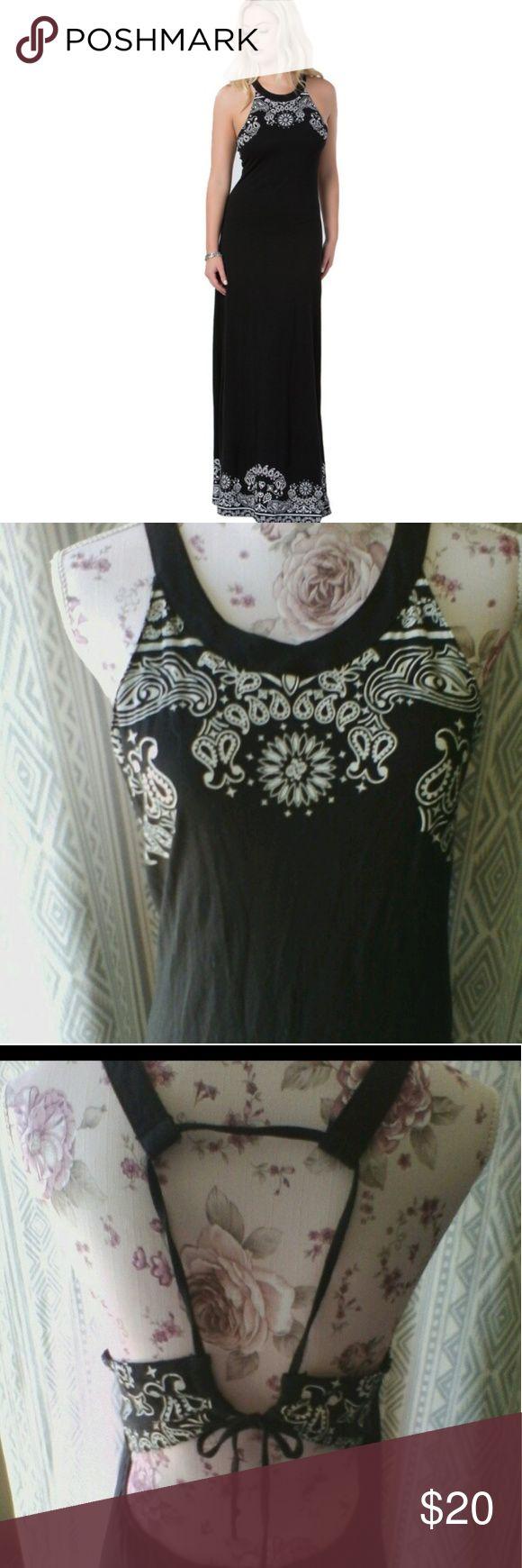 Metal Mulisha Bandanna dress Good condition wore few times Long maxi dress Size large Metal Mulisha Dresses Maxi