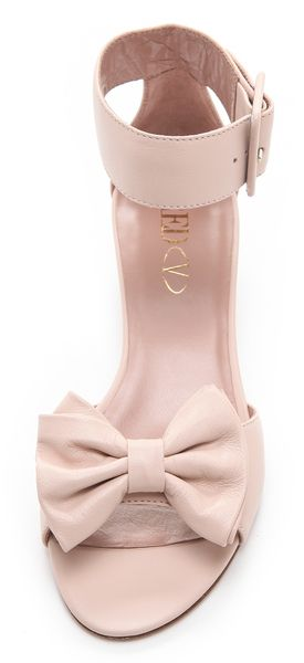 Red Valentino Ankle Strap Bow Sandals in Pink (nude)