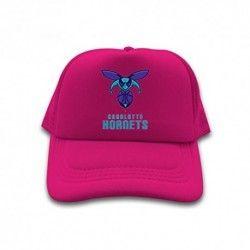 Rose RedNice Cotton Men Women Trucker Hat NBA Charlotte Hornets Logo 2016 Adjustable Cute Sun Cap