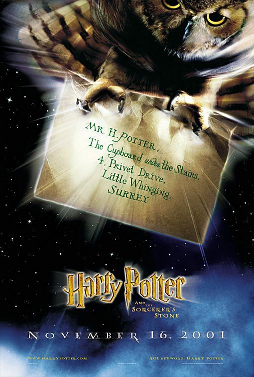 Harry Potter and the Sorcerer's Stone (2001)Movie Posters, Stones Movie, Hogwarts, Picture-Black Posters, Sorcerer'S Stones, Harrypotter, Harry Potter Movie, Owls, Sorcerer Stones