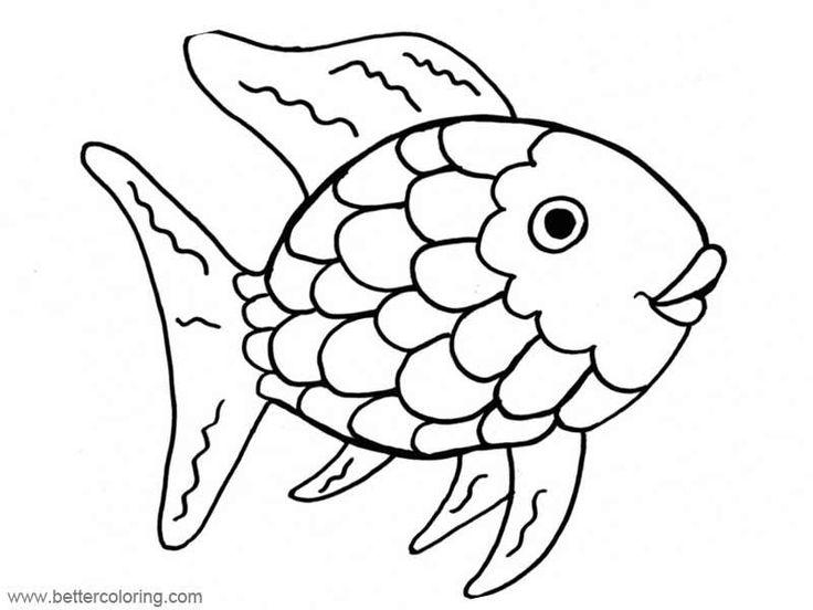 8 Printable Coloring Pages Rainbow Fish | Rainbow fish ...