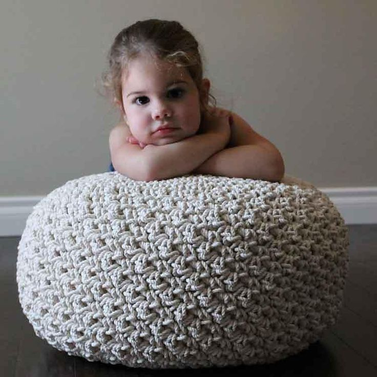 "Look in any decorating magazine and you will find a pouf of some kind. I love them! Don't you? Create your very own with rope for a pouf fit for a magazine!The pattern includes simple instructions on how to sew your own pillow form to stuff inside the cover. Once the pouf is complete, the cover is not removable.Pattern is written in American Standard terms.This pattern is created using 1,067 feet of 1/8"" 3-strand cotton rope. You can purchase a 1200 foot spool of this exact rope from here…"