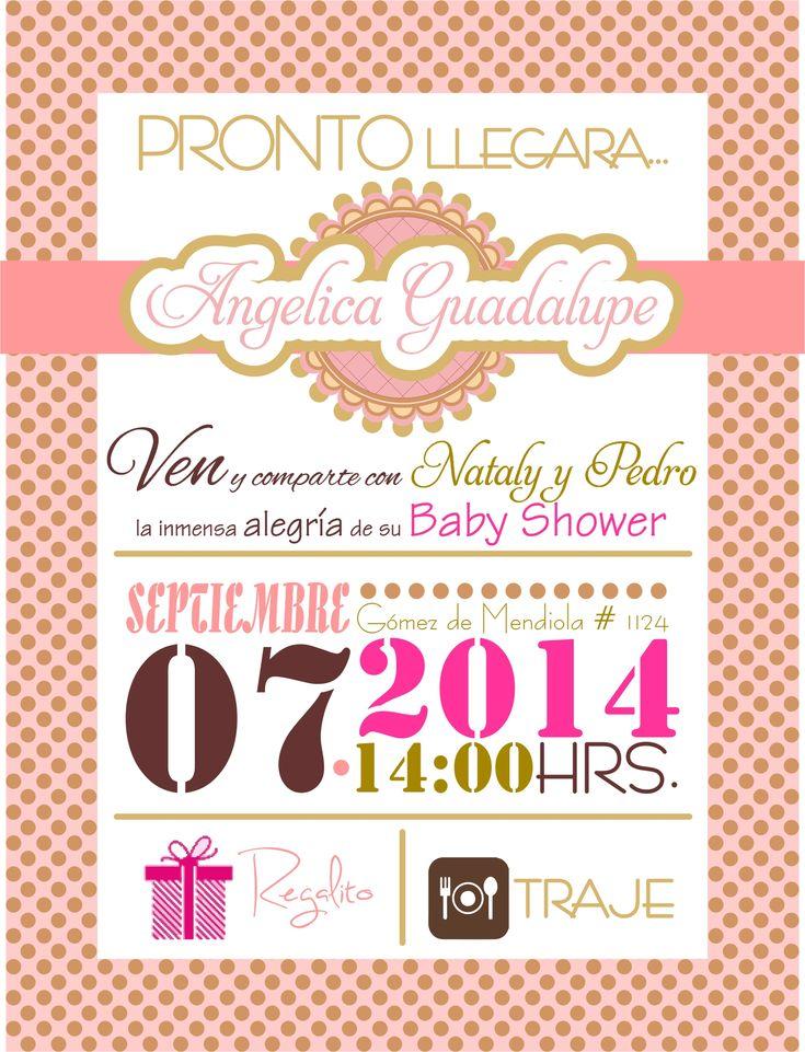 Invitacion baby shower niña.