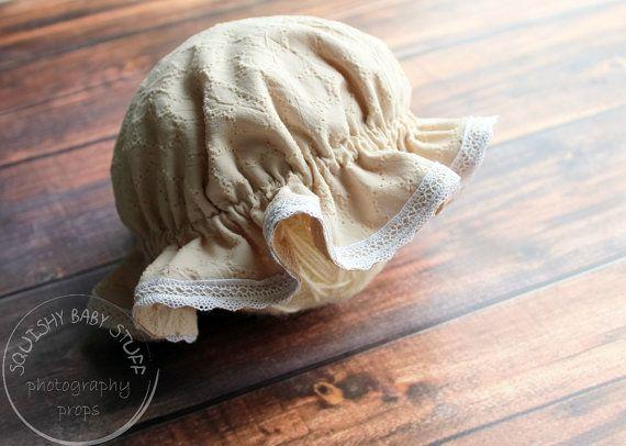 Vintage Style Milkmaid Bonnet Newborn Vintage by SquishyBabyStuff