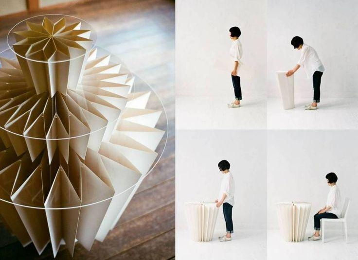 Mesa Kamijiya, plegable y hecha de papel | #Table #Paper