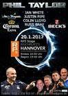 #Ticket  VIP Dart Super Paket Ticket mit PDC Weltmeister Phil Taylor 20.01.17 in Hannover #deutschland