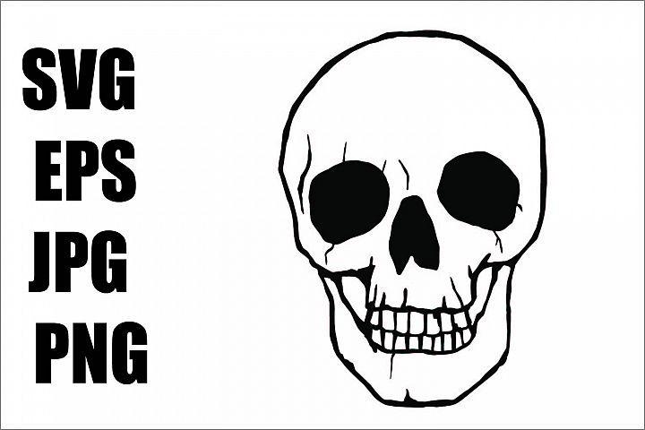 White Skull Svg Eps Jpg Png 291091 Illustrations Design Bundles Book Print Eps Illustration Design