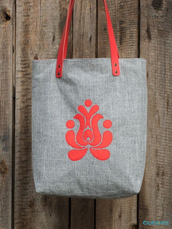 Traditional Hungarian Embroidery Pattern Handbag Tote by buboxa