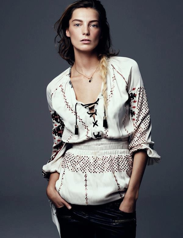 Daria Werbowy by Steven Pan for Vogue Ukraine March 2013 in the style of the #RomanianBlouse
