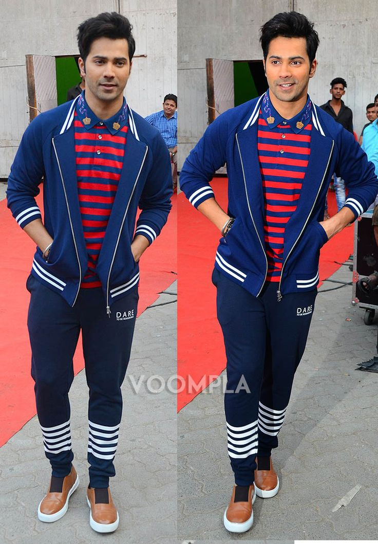 And you thought track pants can't look sexy? Varun Dhawan proves you wrong! Spotted in this super cute look outside a city studio... via Voompla.com