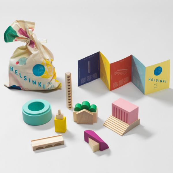 Helsinki Made of Wood block set: Graphic Design, Kokoro Moi, Wood Blocks, Wooden Toys, 2012 Products
