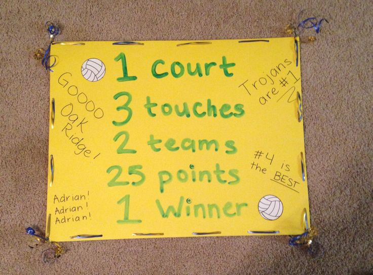 Poster for my little brothers Volleyball Senior night.