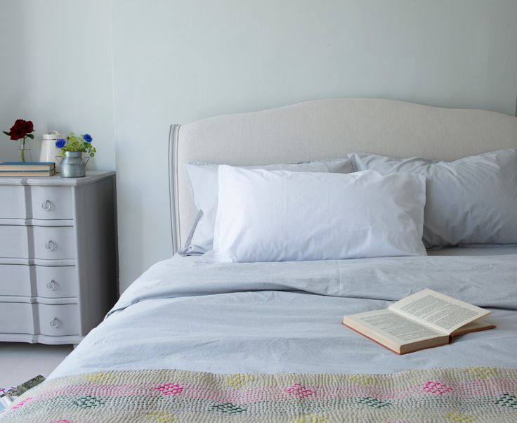 Loaf's Lazy Cotton bed linen is made from 100% luxurious cotton. Seen here in this beautiful French-inspired grey bedroom scheme with our Coco bed.