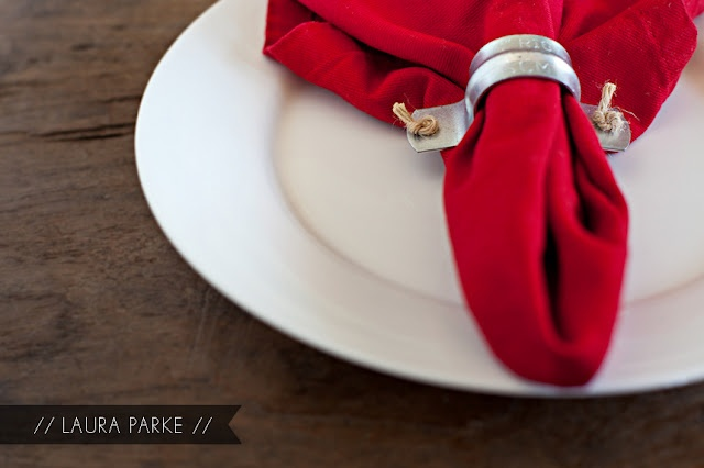 DIY Industrial Napkin Ring...dig this look :)