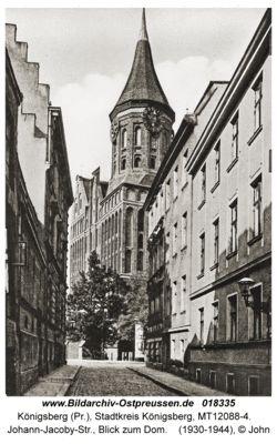 Königsberg Pr.   Johann-Jacoby-Straße, Blick zum Dom     1930 - 1944
