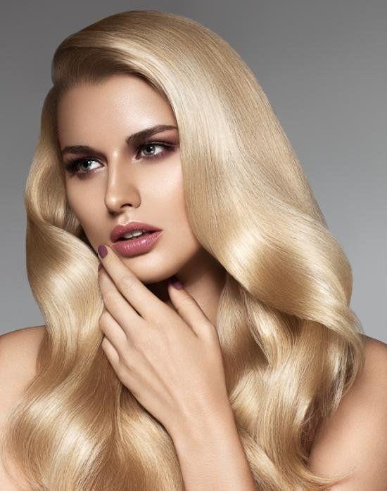 ipek görünümlü sarı saç modeli trend