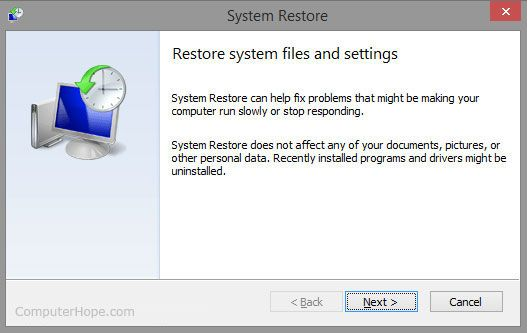 WHAT IS SYSTEM RESTORE? -- Computer dictionary definition for what system restore means including related links, information, and terms.