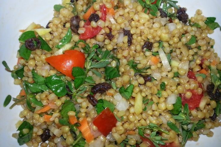 DailyEats: What to do with White Sonora Wheat Berry? White Sonora Wheat Berry Salad with Purslane recipe.