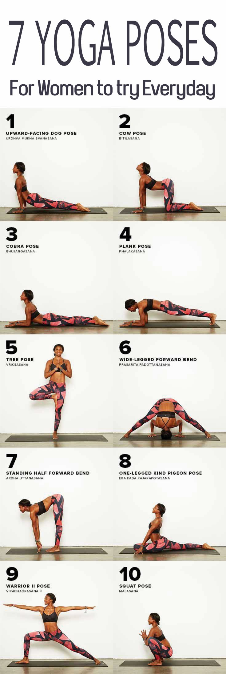 If you are searching for some specific poses as your daily routine, look no further. The following yoga poses are highly recommended for the women to practice every day. They deal with creating pleasure and tuning special organs of the boy. Follow this article of 7 Yoga Poses for Women to try Everyday | Yoga Benefits Women's Health. click to find out more! #skinnygirlblog #yogainspiration #YogaPosesforWomen #YogaPoses #yogaforbeginners