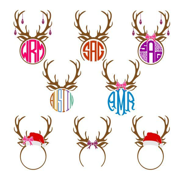 Antlers Pack Monogram Cuttable Frame Cut File. Vector, Clipart, Digital Scrapbooking Download, Available in JPEG, PDF, EPS, DXF and SVG. Works with Cricut, Design Space, Cuts A Lot, Make the Cut!, Inkscape, CorelDraw, Adobe Illustrator, Silhouette Cameo, Brother ScanNCut and other software.