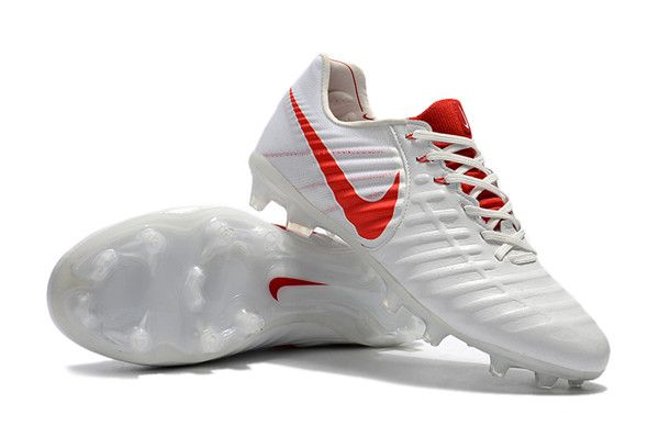 Nike News Tiempo Legend 7 Fg Men Football Boot White Red Nike Football Boots Soccer Cleats Nike Soccer Boots