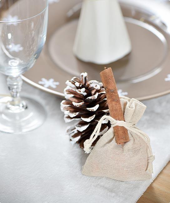"""Säckchen """"Rustikaler Charme"""" 6er Pack #weihnachtsgeschenk #mitgebsel #weihnachtstafel #weihnachtsfeier #wichtelgeschenk #geschenkbeutel #geschenkbox"""