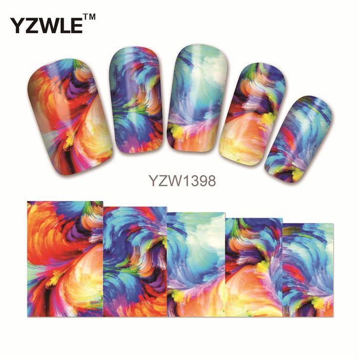 YZWLE 1Pcs Nail Art Water Sticker Nails Beauty Wraps Foil Polish Decals Temporary Tattoos Watermark(YZW1398) #>=#>=#>=#>=#> Click on the pin to check out discount price, color, size, shipping, etc. Save and like it!