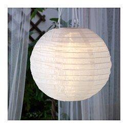 SOLVINDEN, LED solar-powered pendant lamp, globe white