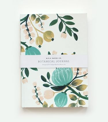Rifle new botanical journal in blue.