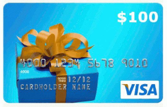 $100 Visa Gift Card