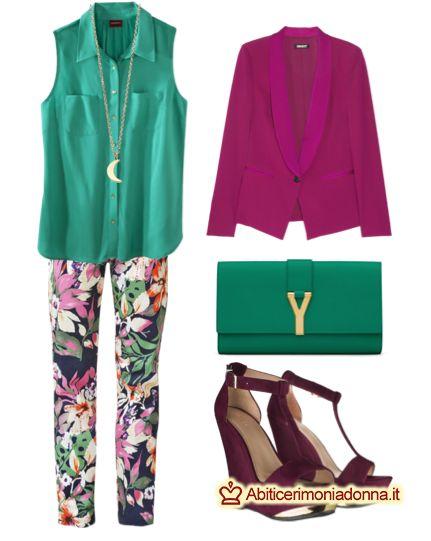 Pantaloni a fiori multicolor, consigli abbinamenti lavoro e tempo libero
