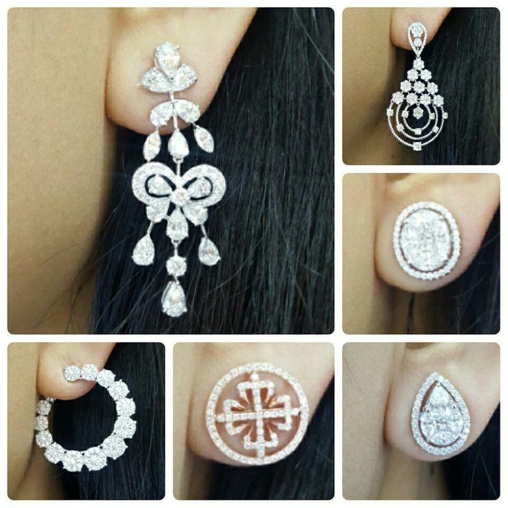 New Arrival Diamonds Earring Diamond Earrings Designer