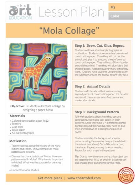 MOLA- Textle Design of the Kuna Indian Tribe, San Blas Islands _AOE Click to Download Free Lesson Plan