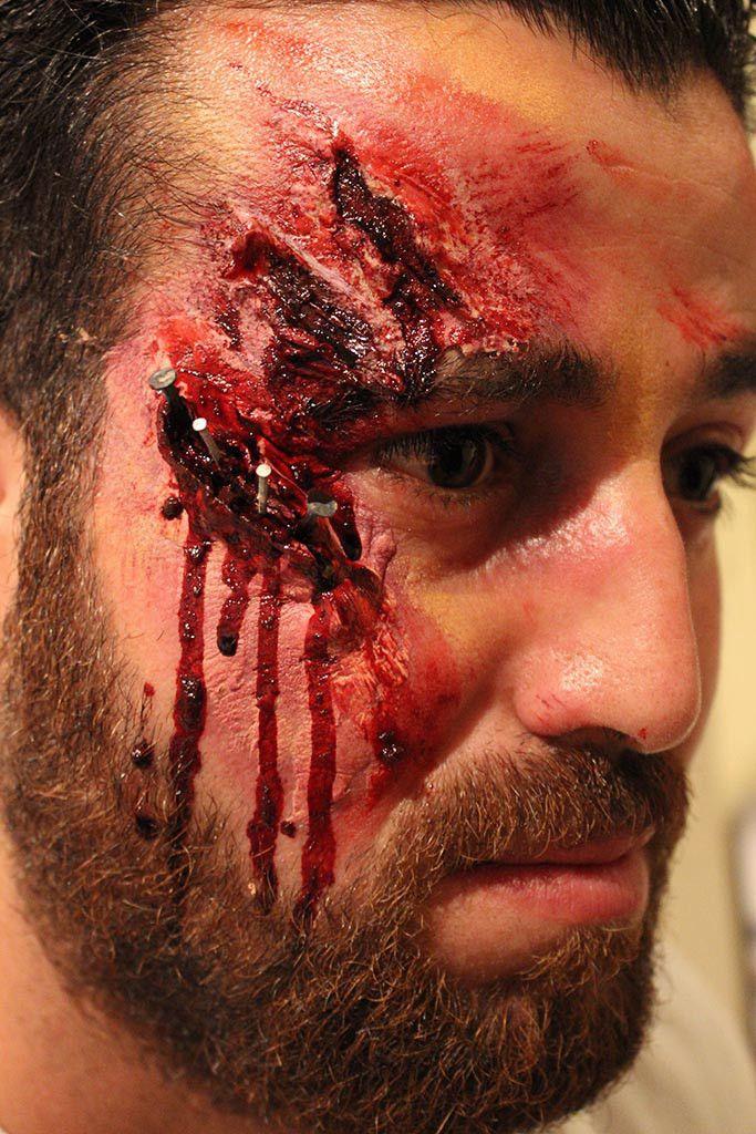 special fx, face painting, blood, make up. Ansiktsmålning halloween make up specialeffekter blod.