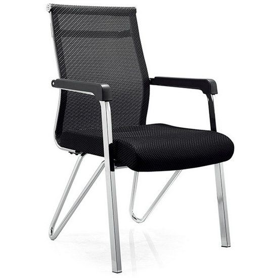 Black mesh conference visitor chair best cheap office chair office waiting room chairs