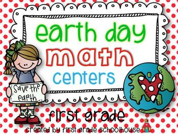 Earth Day Math Centers First Grade. $ 6 Earth Day/Environment themed math centers.