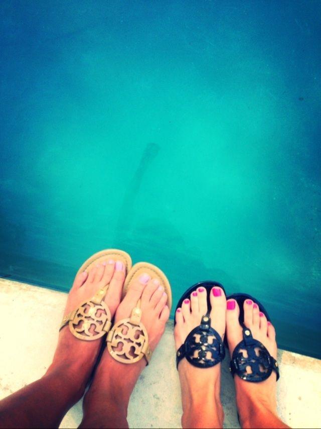 Tory sandals.