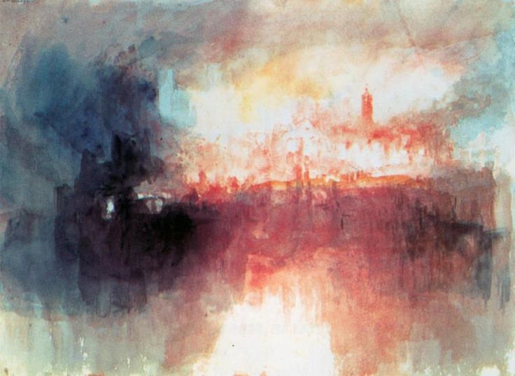 Joseph Mallord William Turner - Fire at the Grand Storehouse of the Tower of London (1841)