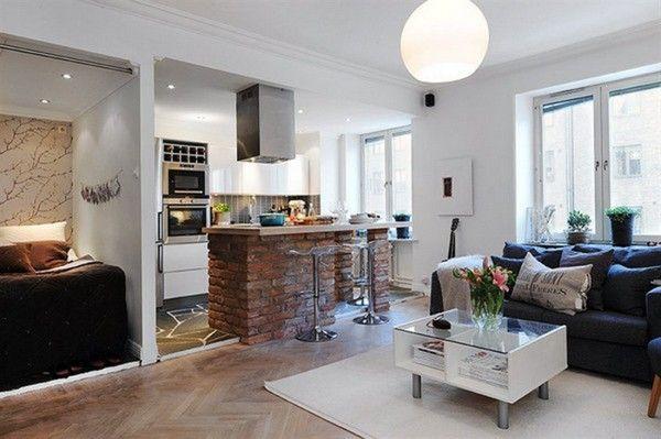 Кухня совмещенная с гостиной в квартире-студии