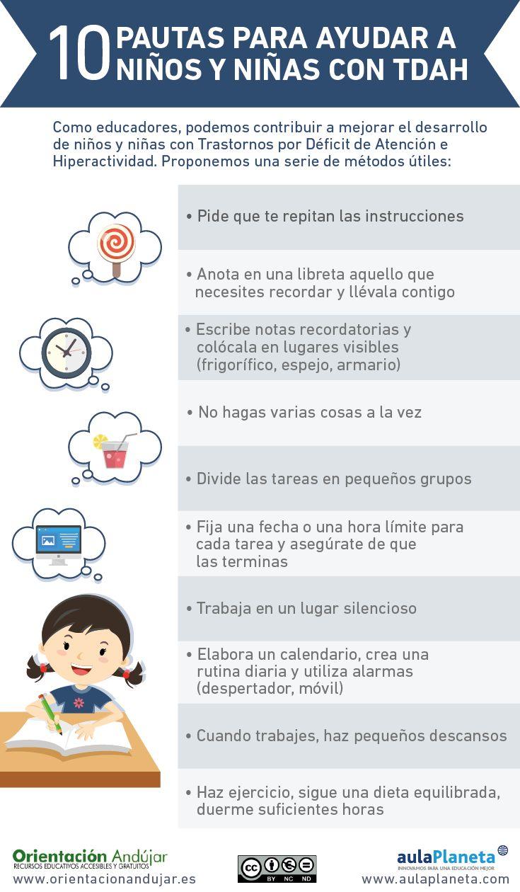 #TDAH10 Pautas para ayudar a los niñas y niños con TDAH