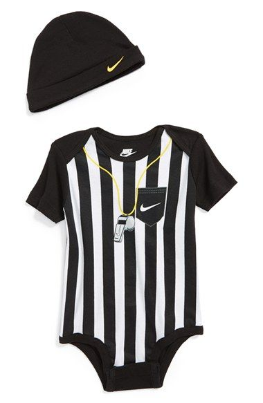 Gotta keep it sporty ! Nike Football Bodysuit  Hat (Baby) available at #Nordstrom