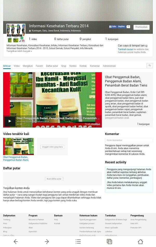 Informasi Kesehatan, Konsultasi Kesehatan, Infoku, Informasi Kesehatan Terbaru, Konsultasi dan Informasi Kesehatan Terbaru 2014 - 2015, Solusi Gemuk, Solusi Penyakit, Info Menarik.  http://www.dailymotion.com/Informasi-Kesehatan-2014