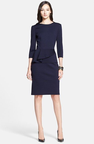 St. John Collection Milano Knit Peplum Top available at #Nordstrom