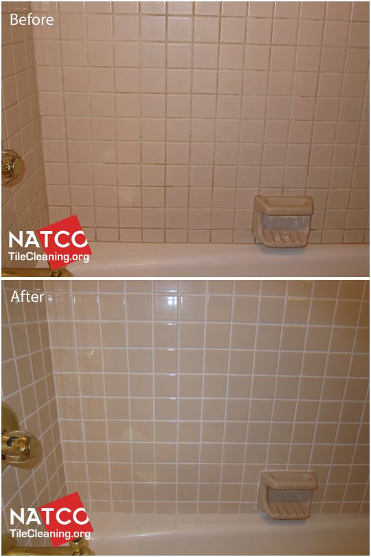 Top 25 ideas about grout colorsealing before and after on for Best product for cleaning bathroom tiles